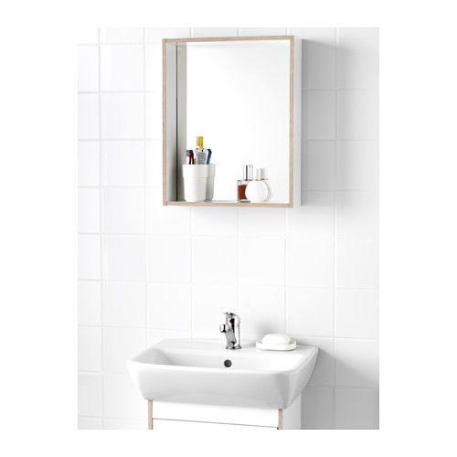 Tyngen espejo con estante blanco laminado ef fresno for Ikea espejos grandes
