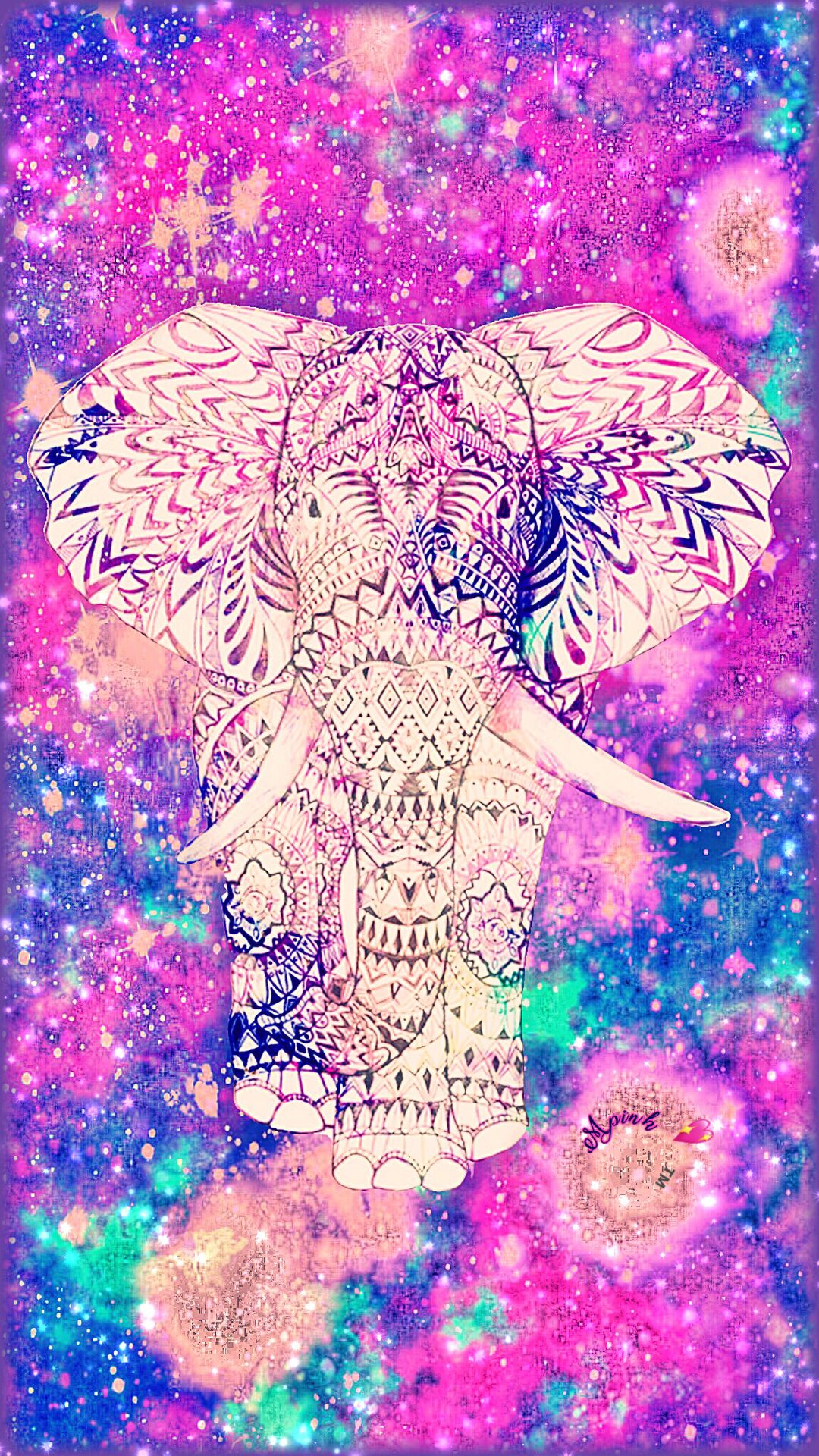 Pastel Tribal Elephant Galaxy Wallpaper #androidwallpaper ...
