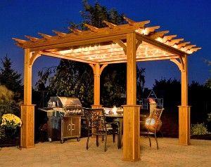 Pergolas De Madera Baratas En Espana Outdoor Pergola Wood Pergola Pergola Lighting