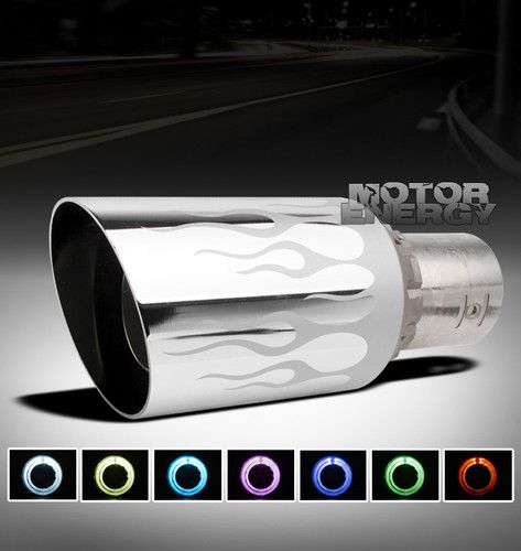 "UNIVERSAL 4"" 7 COLOR LED EXHAUST MUFFLER TIP MAGENTIS GS430 GS460 IS250 IS350"