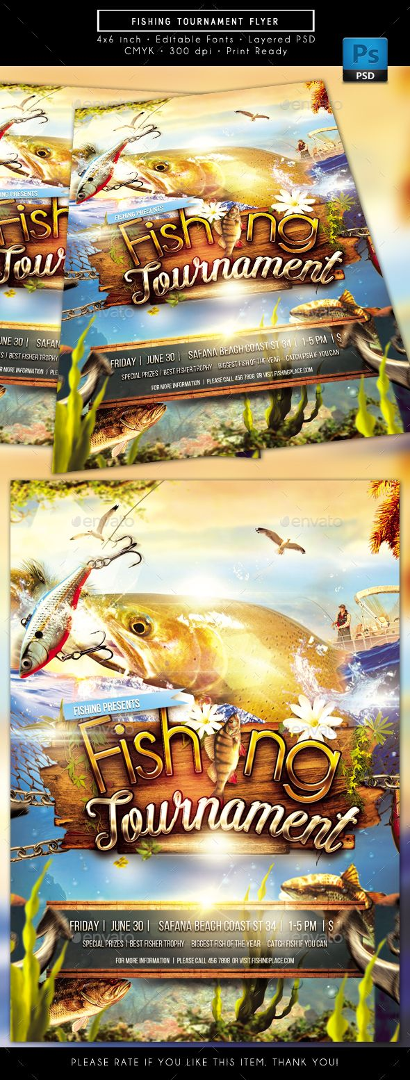 Fishing Tournament Flyer Sports Events Download Here Https
