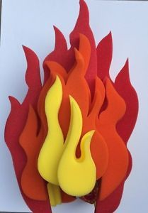 Chris March Fun Light Up Flame Foam Wig Hat Fire Target New In Clothing Shoes Accessories Costumes Reenactment Theater