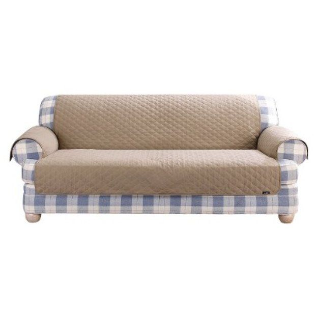 Sure Fit Quilted Duck Furniture Friend Pet Loveseat Cover Linen