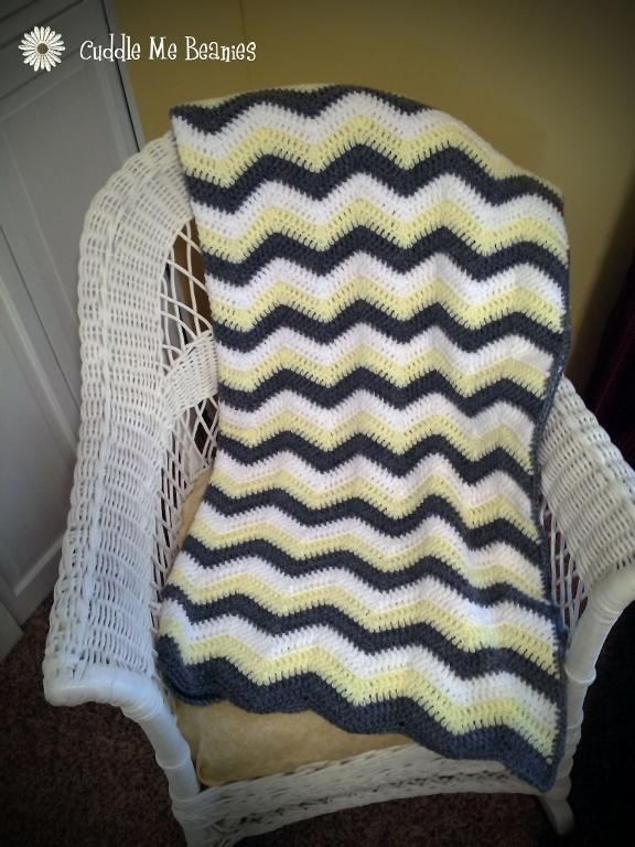 Free Crochet Ripple afghan and chevron afghan pattern