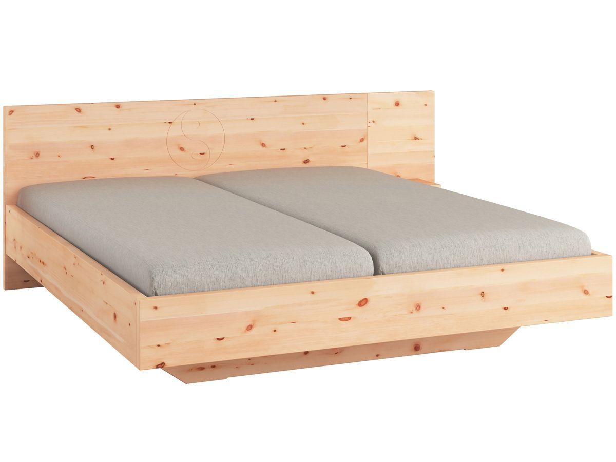 Zirbenbett Alexandra 180 X 200 Cm Mit Einem Nachttisch Rechts
