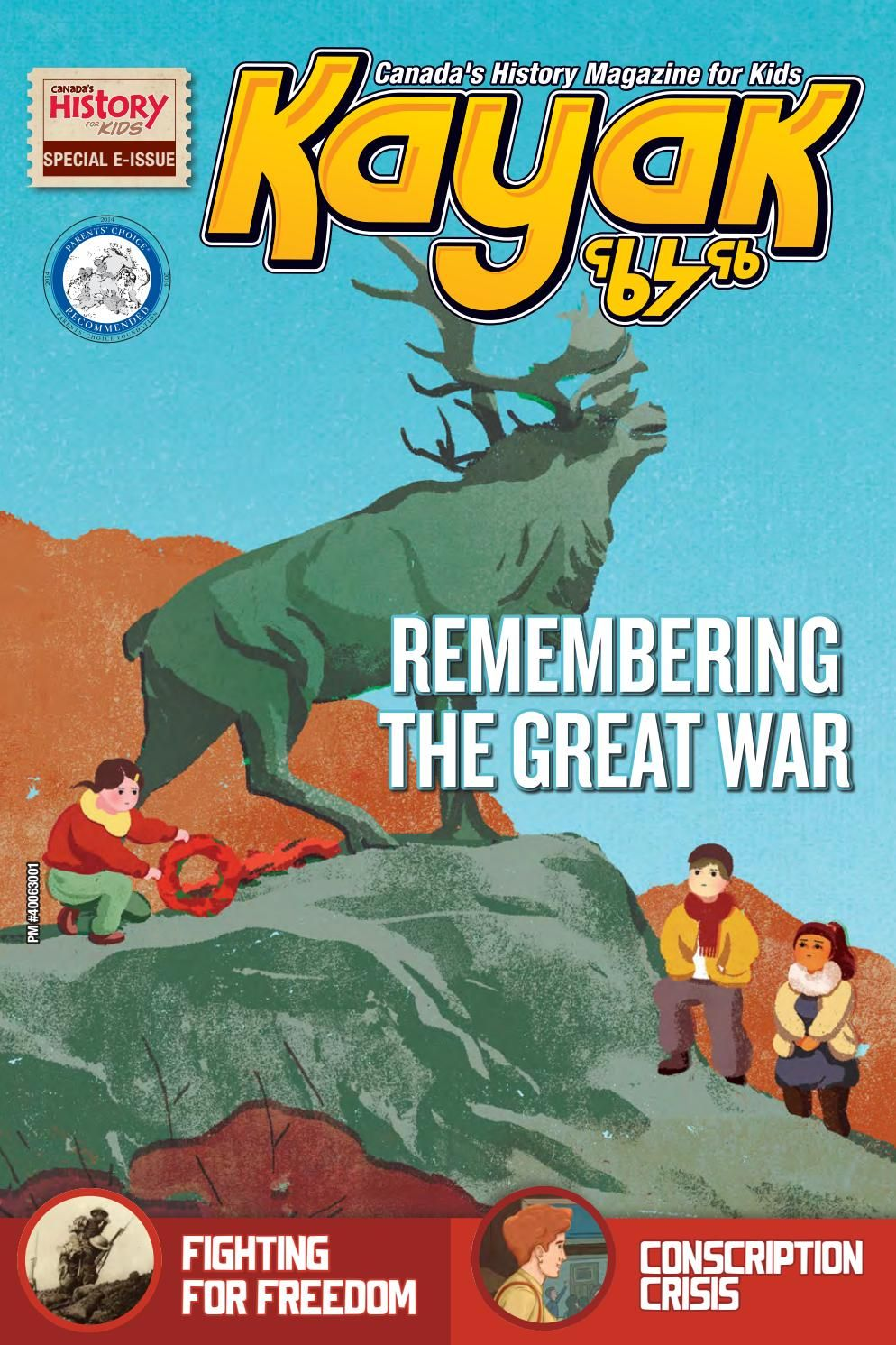 Kayak Remembering the Great War Magazines for kids