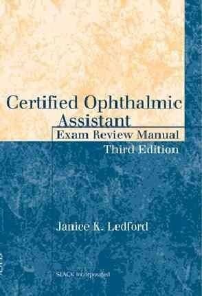 Certified Ophthalmic Assistant Exam Review Manual \u20acy\u20ac Spy