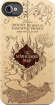Marauders Map Iphone Case... Want!