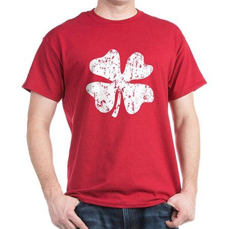 823cafdc CafePress Big Men's Grunge Irish Shamrock T-Shirt, Size: 3XL, Red ...