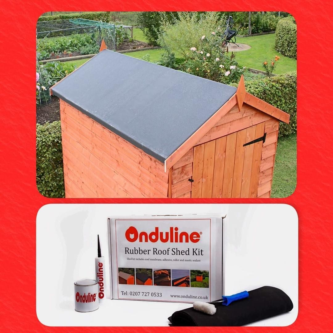 Transform Your Shed With A 50 Year Rubber Roof From Onduline We Have 12 Different Kit Sizes Now Available On Amazon Www Onduline Co Uk Onduline In 2020