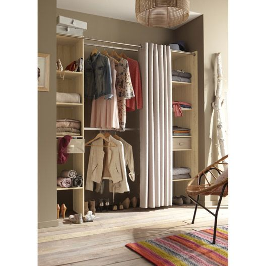 Kit dressing am nagement placard et dressing leroy merlin rangements astuces pinterest for Comamenagement placard leroy merlin