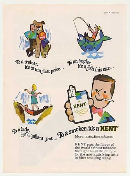 To a Smoker, It's a Kent, 1960's Ad