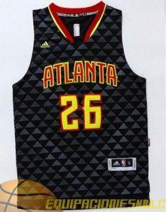 Adidas Camiseta nba Atlanta Hawks KORVER  26 negro nueva pano €19.99 ... 98d442589d1