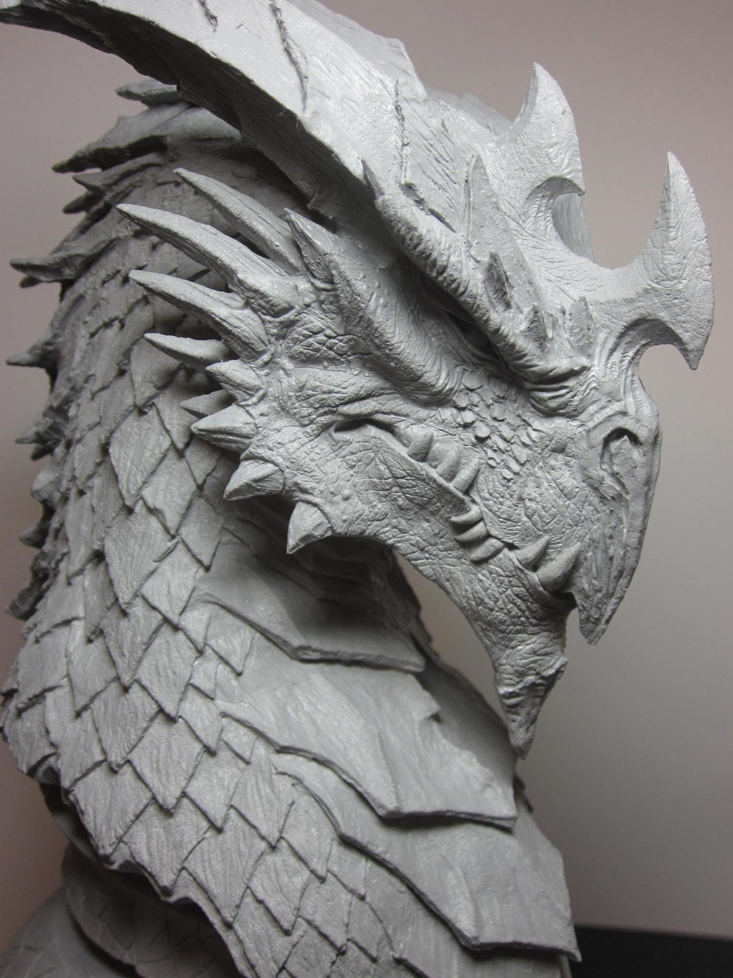 Brian Fay - Inkarnate Dragon Head | dragons | Dragon art