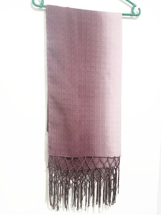 Women's Large Scarf   Hijab Shawl Turban for Ladies Toned Small Wrap   Soft Stole    Made of polycotton   Size Medium   Color : Light maroon   Measurements  length : 178 cm , 70 inch  width : 50 cm , 19.6 inch