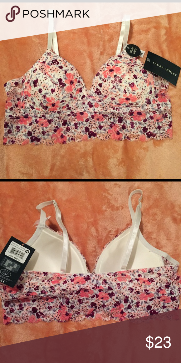 76fc2a2938d Laura Ashley Bralette Lightly padded bralette with adjustable straps.  Floral print Laura Ashley Intimates   Sleepwear Bras