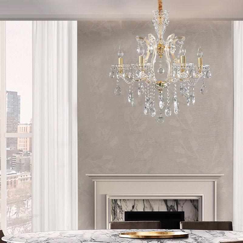 Elegant Crystal Chandelier European Pendant Light Dining Room Bedroom Hq 9155 Crystal Chandelier Ceiling Lights Pendant Lighting Dining Room