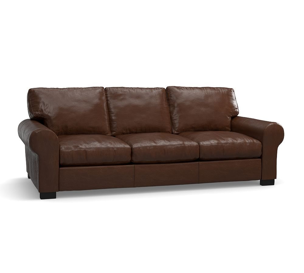 Pottery Barn Leather Sleeper Sofa Broyhill Audrey Turner Roll Arm Down Blend Wrapped Cushions Polyester Legacy Chocolate At