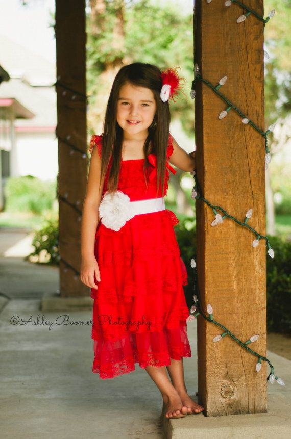 Red Lace Toddler Baby Girl Dress Flower Girl by AvaMadisonBoutique, $35.00