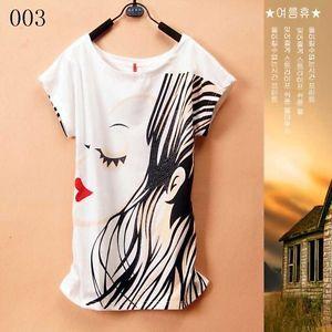 Fashion Women's Korean Short Sleeve Loose Casual T Shirt | eBay