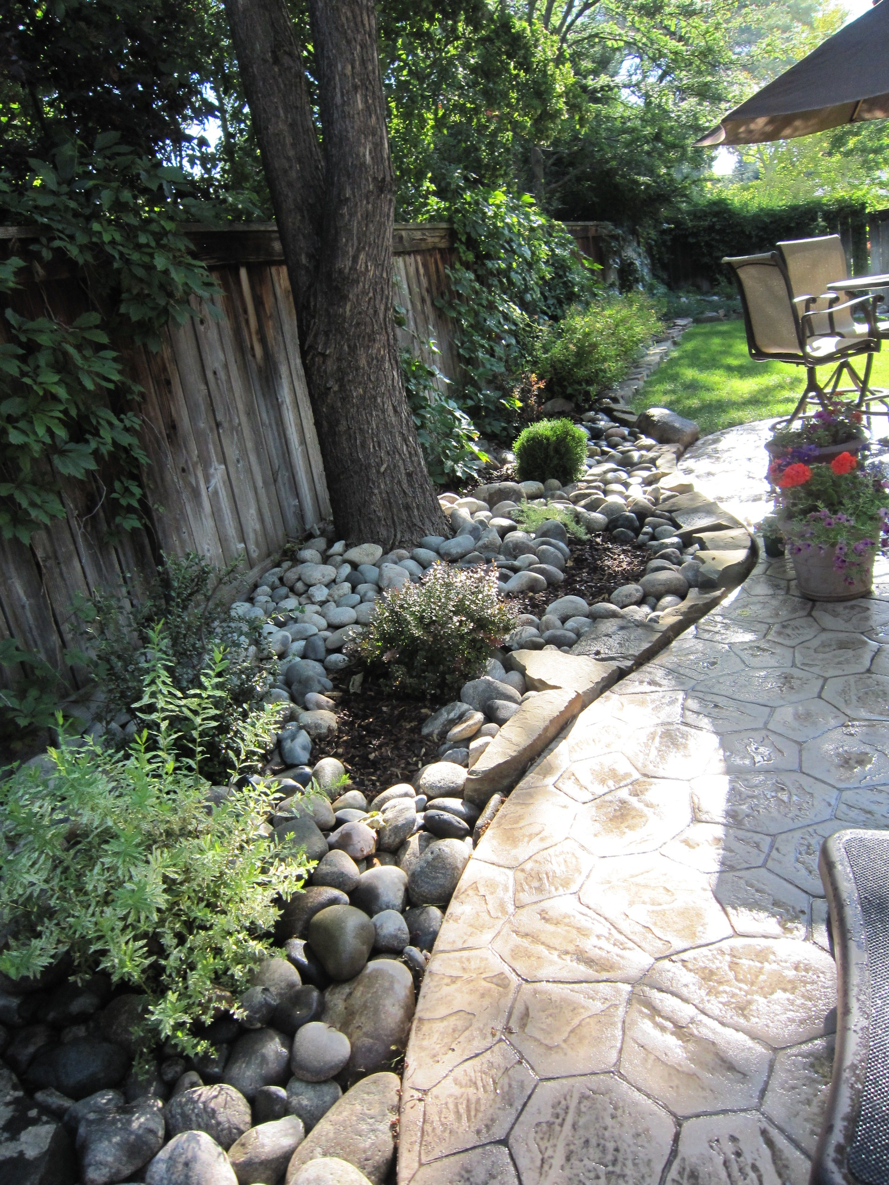 Great idea. A grassless side yard idea- dripline watering ... on Grassless Garden Ideas id=79742