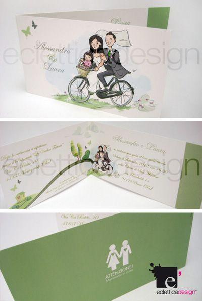 Partecipazioni Matrimonio Bicicletta.Partecipazioni Di Matrimonio Mini Bici Film Polaroid Film