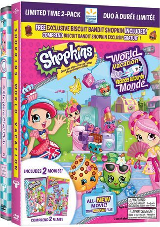 Shopkins World Vacation Chef Club Walmart Exclusive Limited Time 2 Pack Bilingual