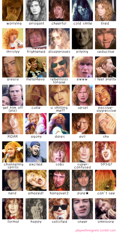 40 faces of dave haha dave mustaine pinterest