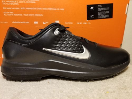 07cc854b684c NIKE AIR ZOOM TW71 Size 11 Black Silver Tiger Woods AA1990-002 Mens Golf  Shoes