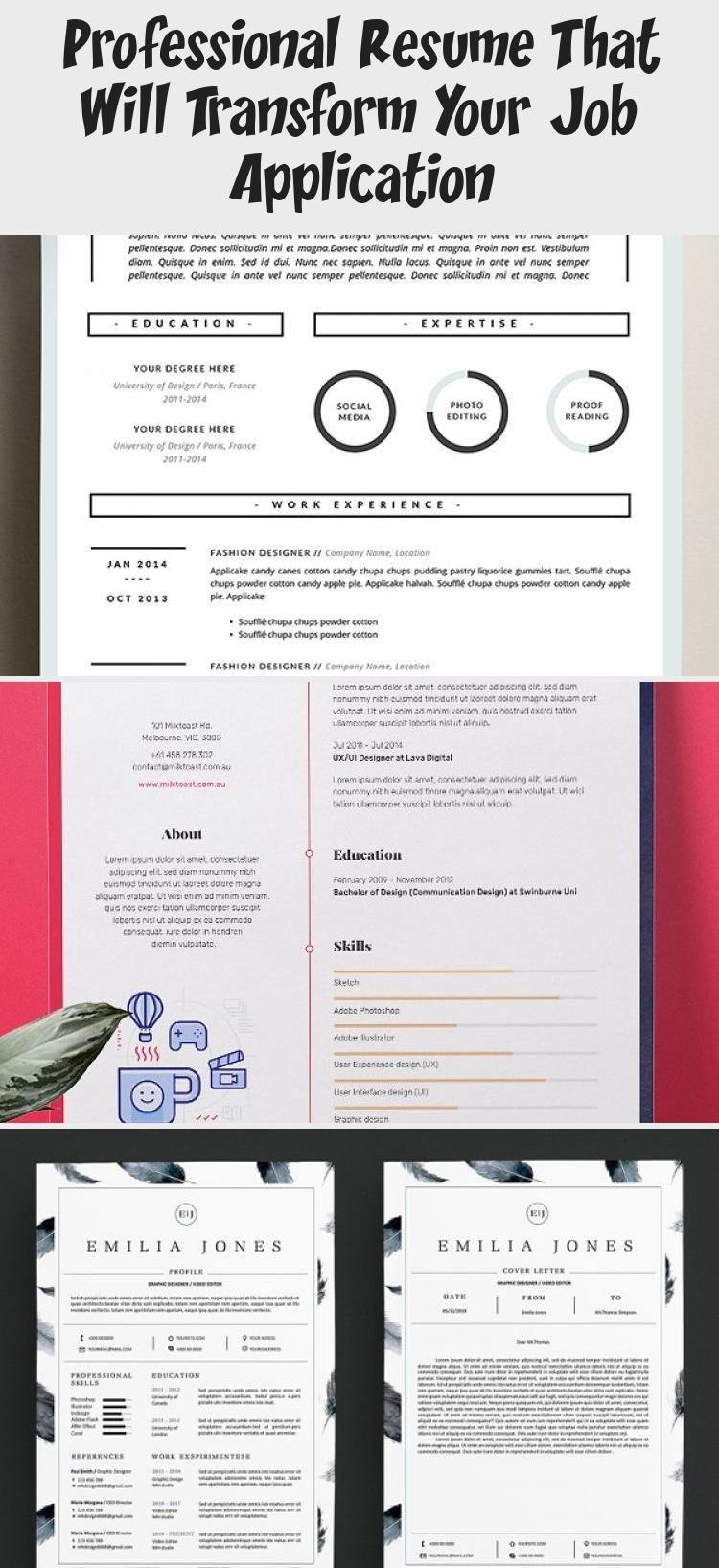 Big Set of Professional Resumes Writingportfoliodesign