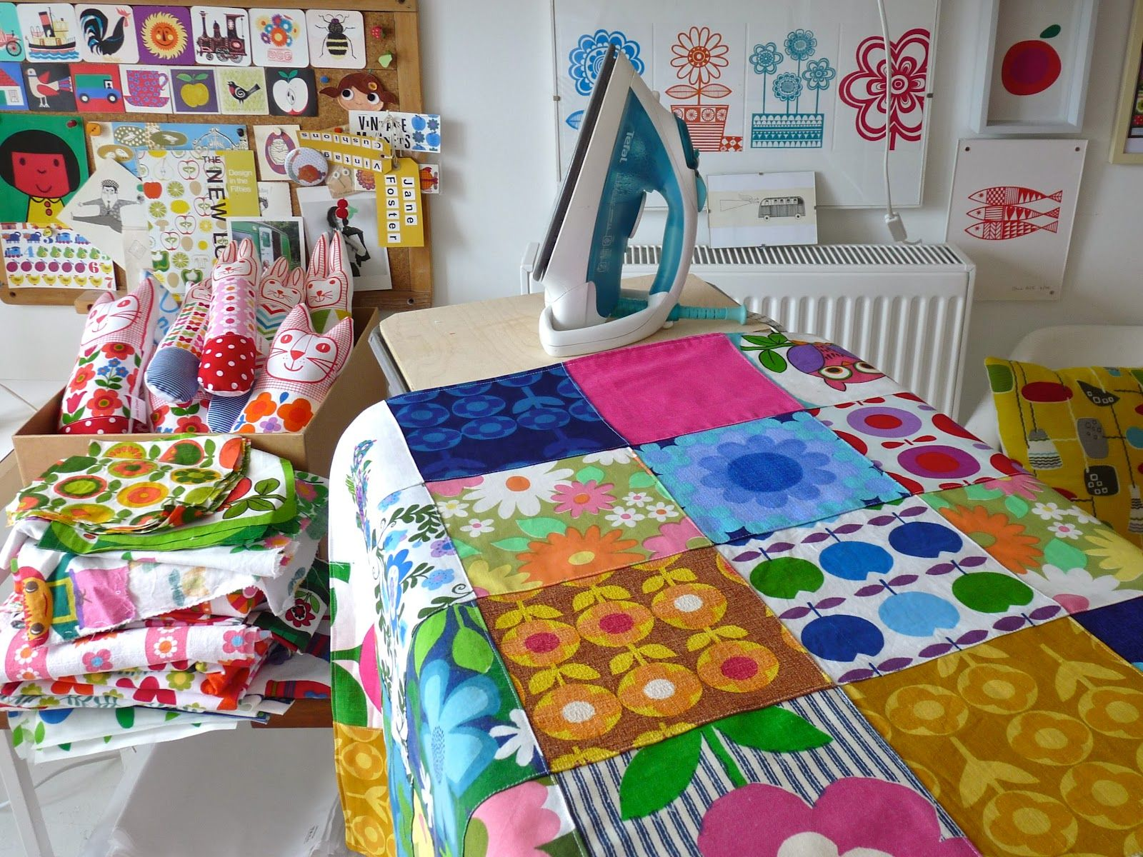 Patchwork bed sheets patterns - Jane Foster Blog Weekend Of Patchwork Using Vintage 70s Fabric