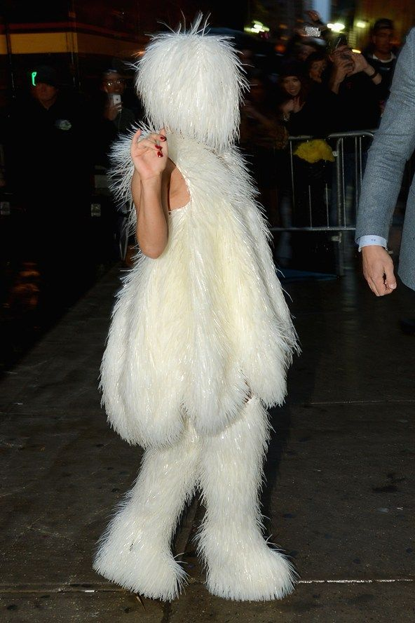 March 29 2014 She wore a full fur outfit to arrive at the Roseland Ballroom in New York.