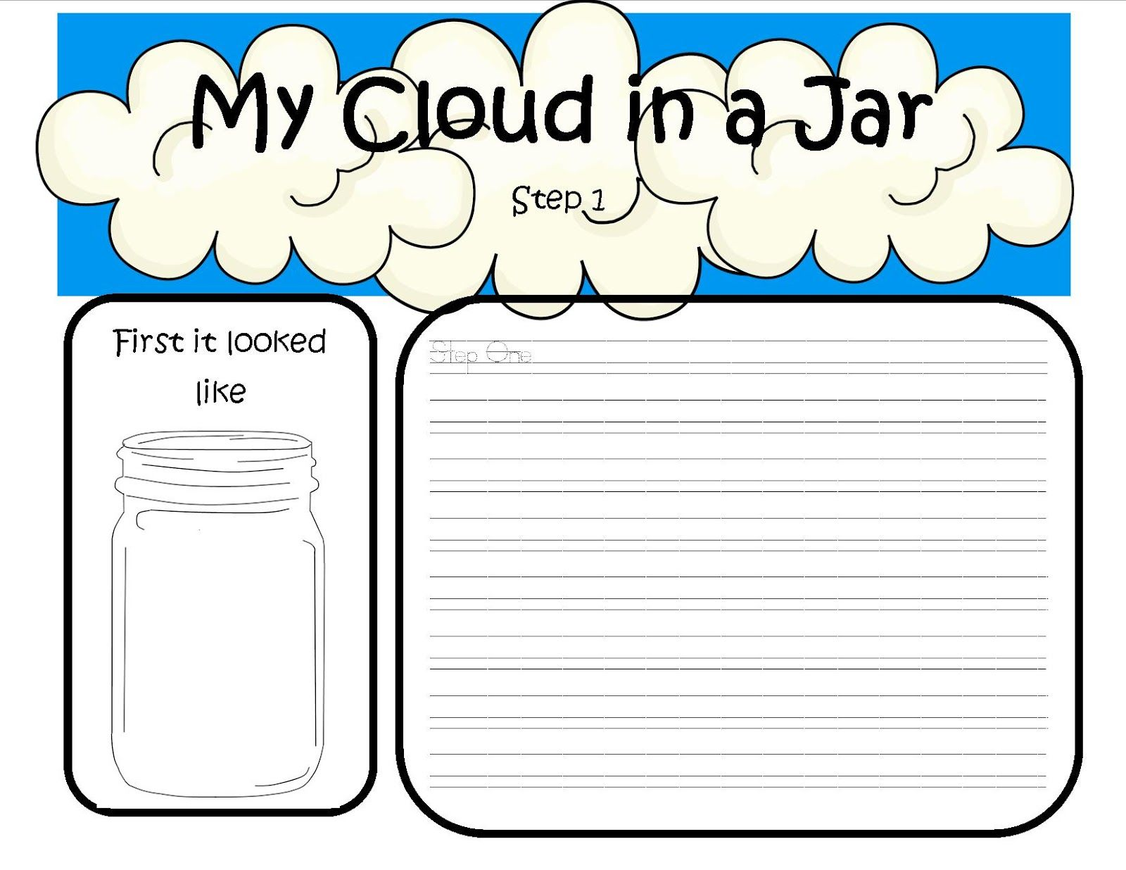 A Day In First Grade Clouds