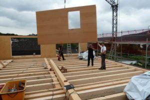 Holzbau Schreiner Dachgeschoss Baustelle Zimmerei