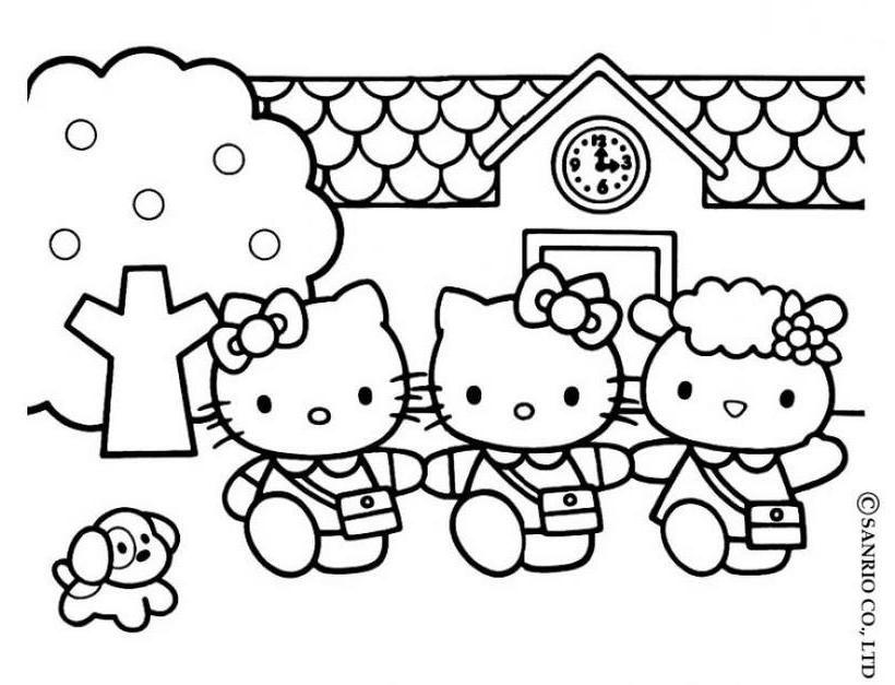Hello kitty4 - Dibujo de Hello Kitty para imprimir   2.КАРТИНКИ И ...
