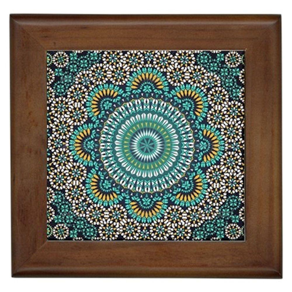 Tile Plaques Home Decor Pattern Moroccan#1 Fraemd Tile Wall Art Plaque Patio Home Decor