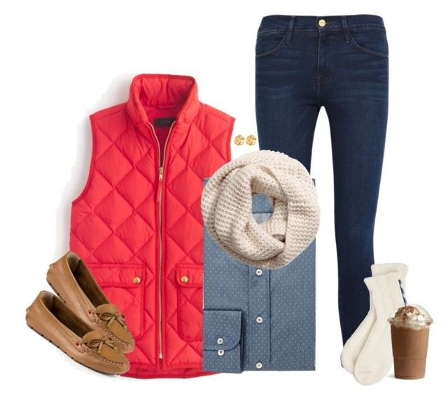 """""""{11-17-15} OOTD"""" by robramey17 ❤ liked on Polyvore featuring J.Crew, Frame Denim, Etro, H&M, Susan Shaw, Falke and Sperry Top-Sider"""