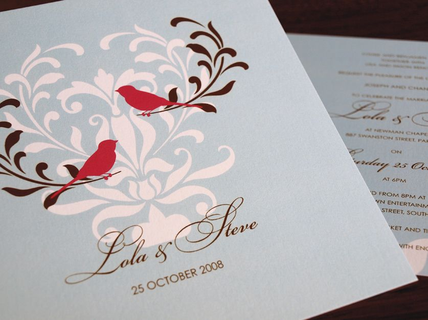 cute bird invitations | Our Winter Wedding | Pinterest | Wedding ...