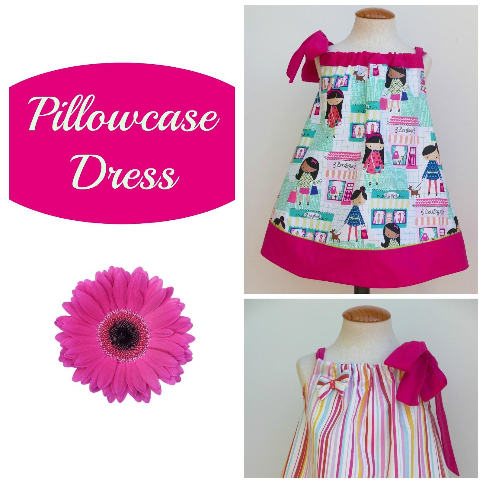 1-4años Tutorial para coser vestido pillowcase para niña | vestidos ...