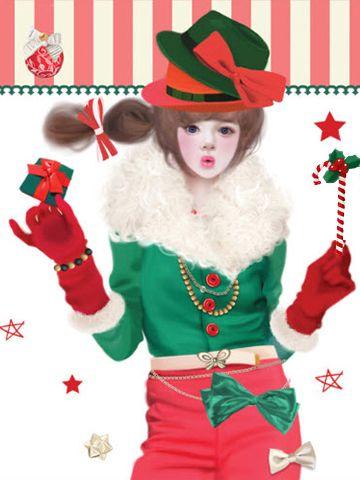 ❤٩(๑•◡-๑)۶❤                                                Enakei Christmas Girl