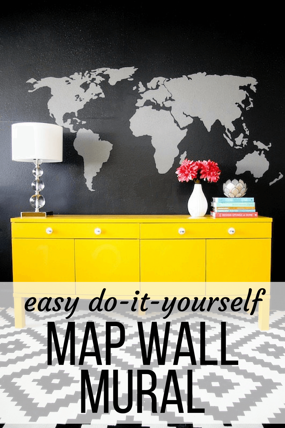 How to create DIY wall decor using a projector. This map wall mural ...
