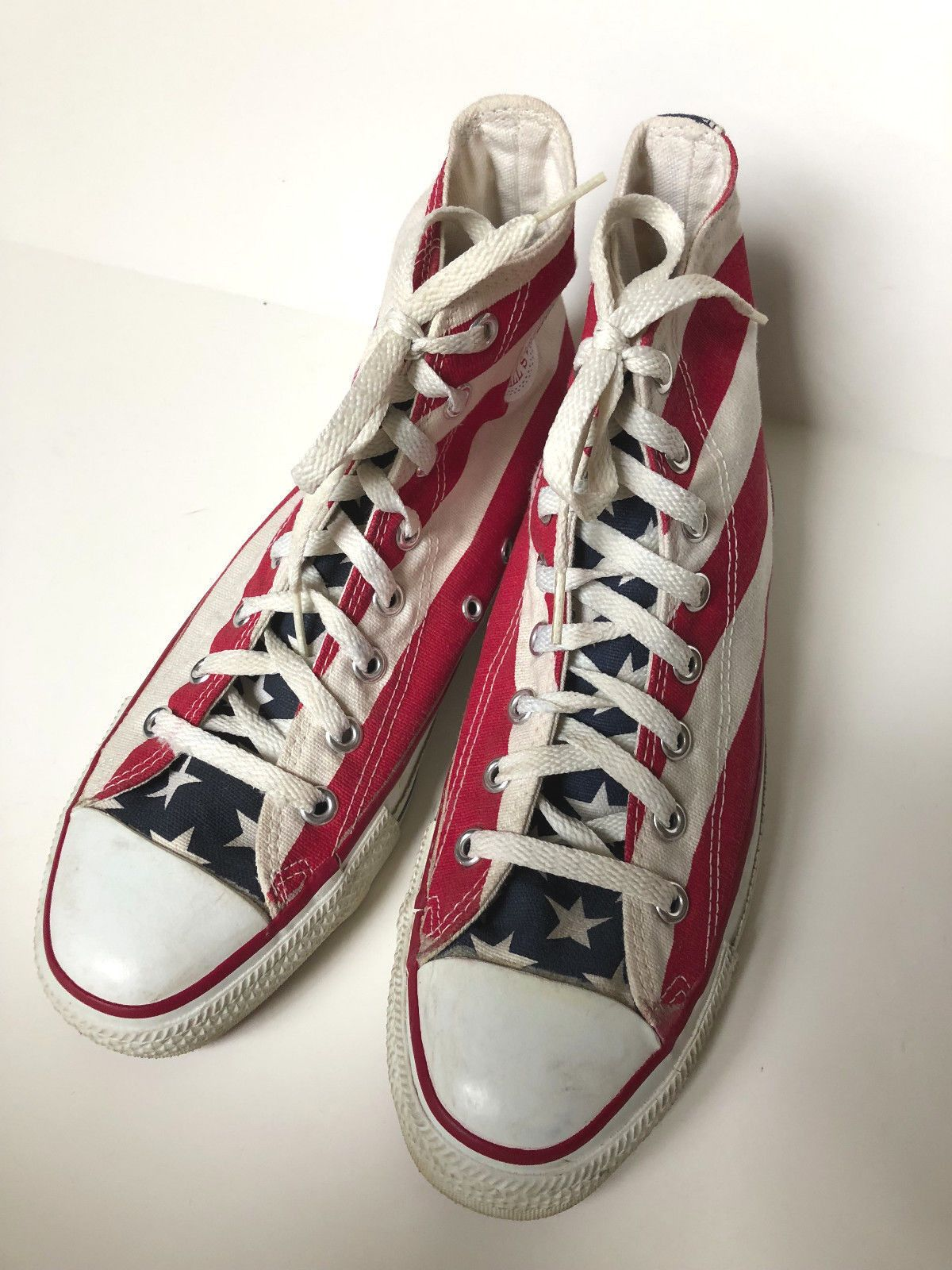 d66357824d Vintage Converse All Star Chuck Taylor Men s 8 - American Flag High Top USA