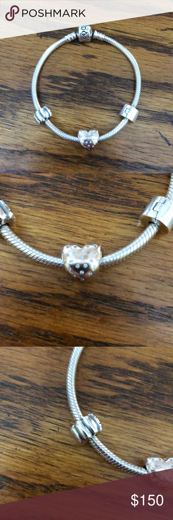 Pandora bracelet with clips charm pandora iconic charm silver