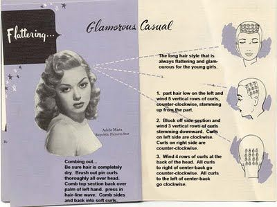 curling patterns retro hairstyles pinterest pin curls hair rh pinterest com