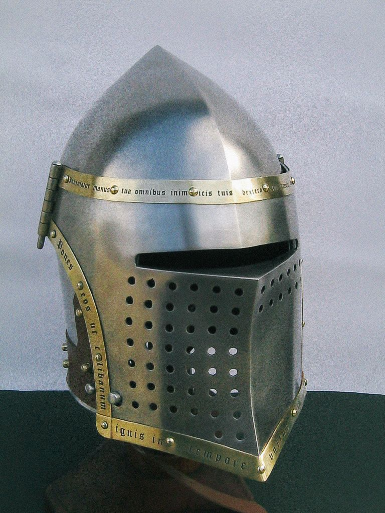 Bascinet with curved visor | Medieval helmets by Steel