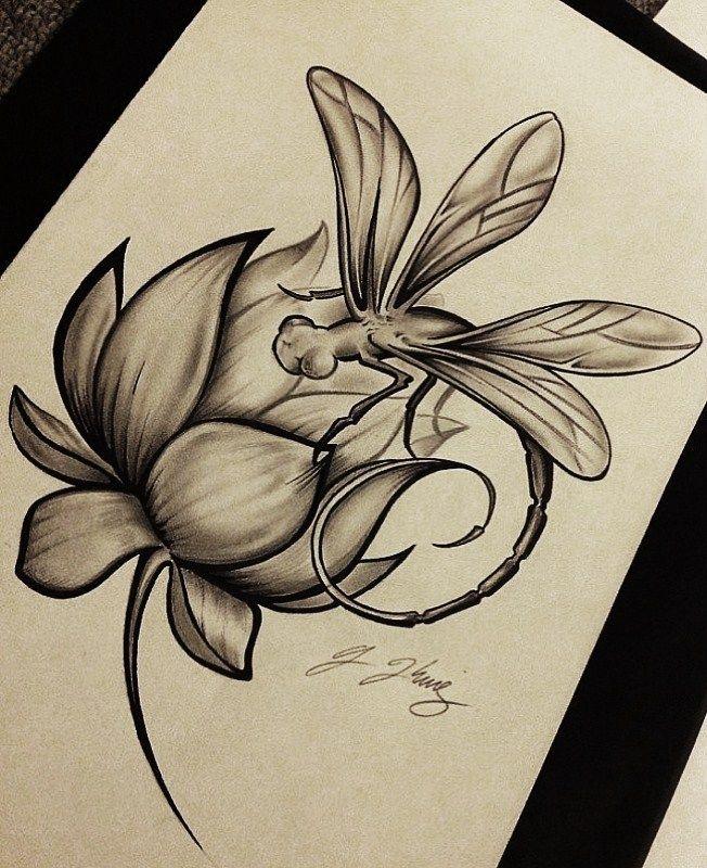 Dragonfly Lotus By Kingsart 1deviantartcom On At Deviantart