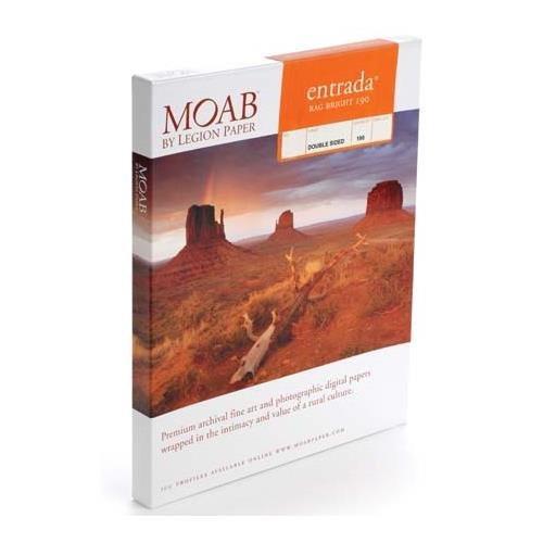 Moab Entrada Rag Bright 190 11 X 17 25 Sheets R08 Erb190111725 Printer Paper Paper Fine Art Paper