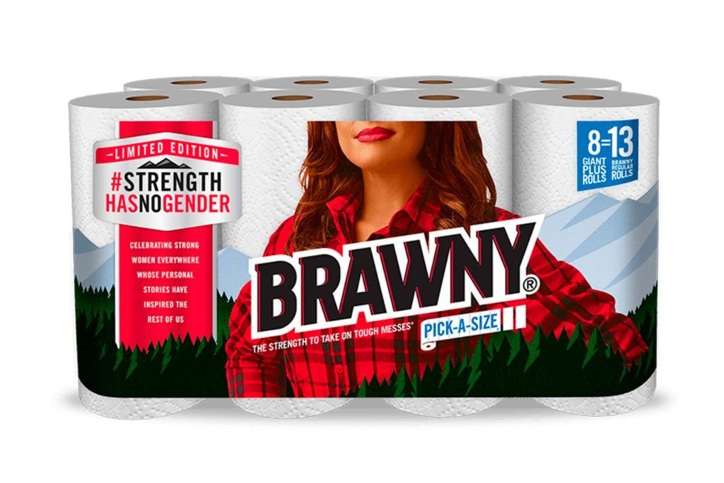 Move Over Brawny Man. Brawny Woman Takes Over for Womans History Month