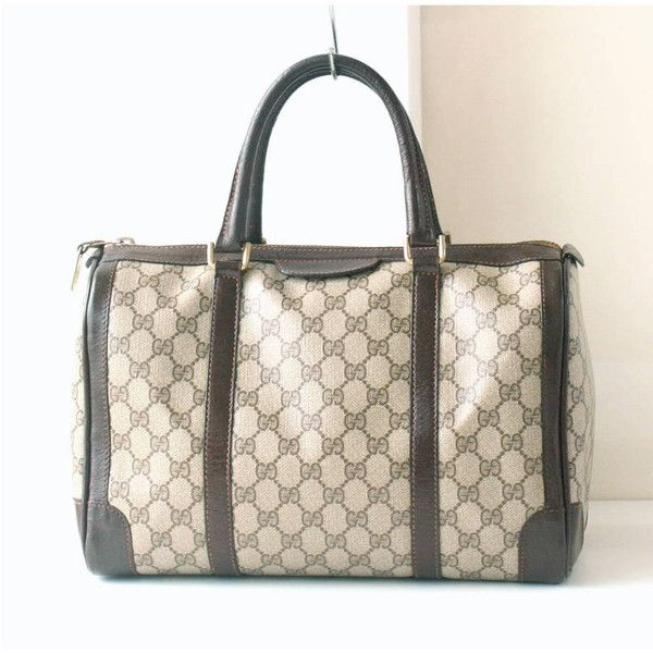 abde9212a41 Authentic GUCCI Monogram Boston Tote bag (22.870 RUB) ❤ liked on Polyvore  featuring bags