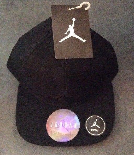 43f6c13463361 NWT NIKE AIR JORDAN JUMPMAN INFANT ADJUSTABLE SNAPBACK HAT CAP BLACK 12-24